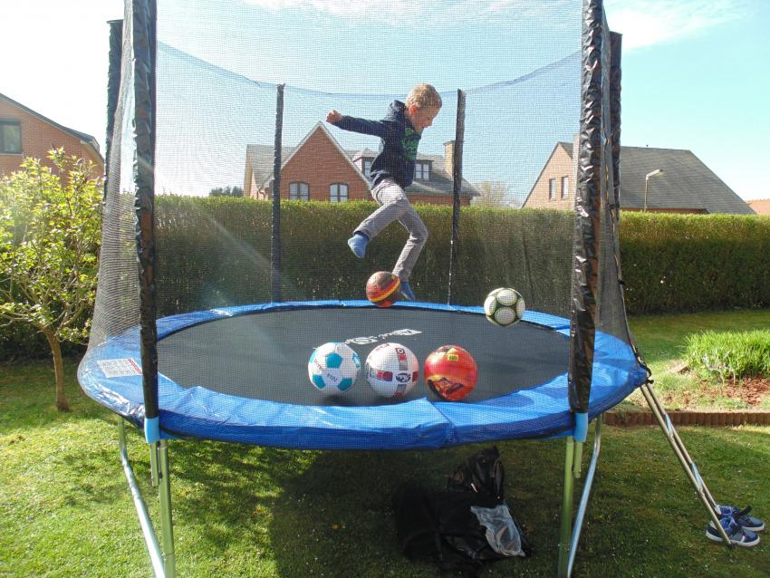 10ft Trampoline With Safety Net Accessories Kit Grey Pro Quality Eu Standards