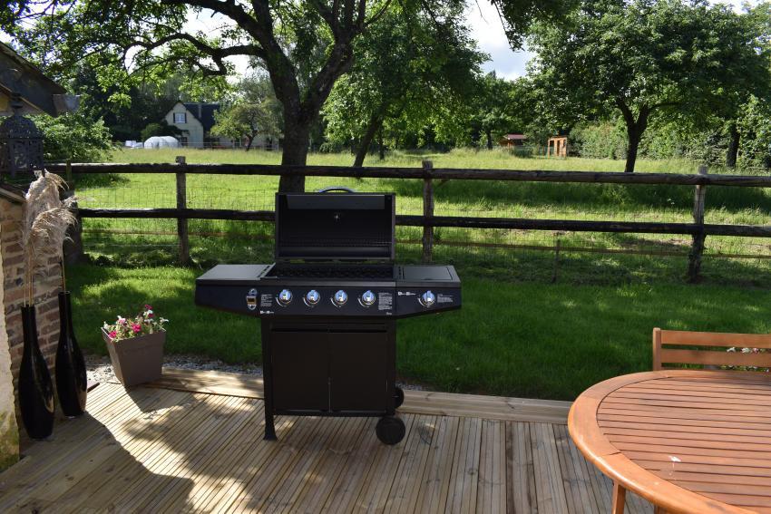 LANDMANN 12754 Barbecue au gaz avec 4 brûleurs centraux et 1
